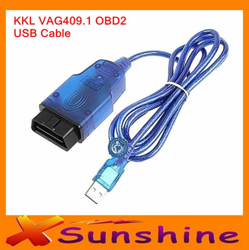 2014 Lower Price KKL USB OBD2 OBDII Auto Diagnostic Tools KKL 409.1 OBD2 USB Cable Car Diagnostic Cable Best Quality(China (Mainland))