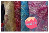 Ocean Flower Stunning Mesh Yarn Embroidery Fabric, Wedding / Cheongsam / Dress embroidered cloth diy material, 6 colors!
