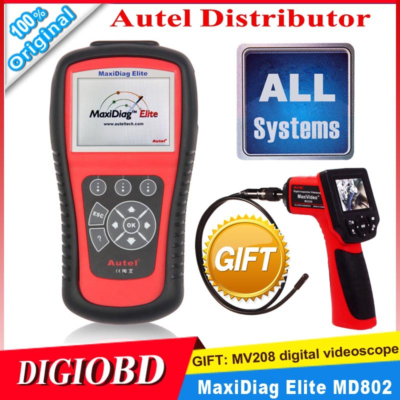 2013 New AUTEL MaxiDiag Elite MD802 All system + DS model MD 802 PRO (MD701+MD702+MD703+MD704) 100% Original auto code reader(China (Mainland))