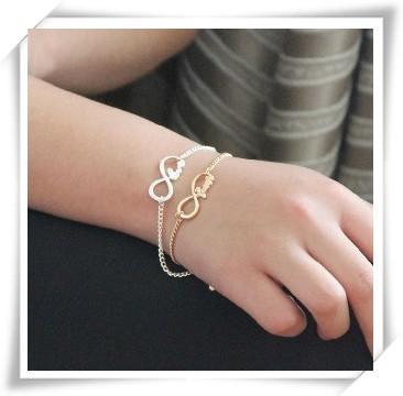 2013 New fashion Jewelry Infinity Blessing wish bracelet for women girl ladie's wholesale Min order is $10(mix order) B827(China (Mainland))