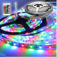 RGB 3528 SMD Flexible Not waterproof 300 LED Strip Light + 24 key IR Remote Control !! Free ship!