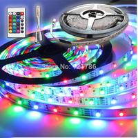 RGB 3528 SMD Flexible Not waterproof 300 LED Strip Light + 24 key IR Remote Control !! Free ship!