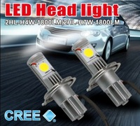 LED Headlight for auto DC 12-24V 50W 3600lumen H4 H7 H8 H9 H10 H11 9005 9006 with free China post