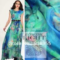 140cm wide superior silk chiffon fabric, 100% mulberry silk, dress material.