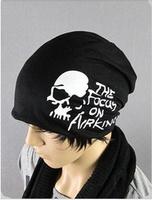 2014 promotion new letter adult casual beanie gorro devil skull scarf hat korean hip-hop leisure covering unisex Cotton