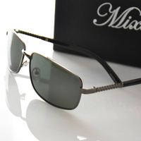 Anti-ultravialot rays polarized sunglasses men high quality alloy frame driver glasses(GL47)
