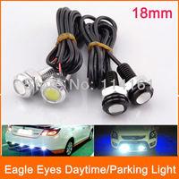 2pcs/lot 18mm White Color Eagle Eye Parking light Daytime Running Lights LED Car Lights Lamp DRL Daytime Lights