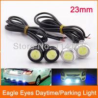 23mm White Eagle Eye Daytime Running Light LED Car Lights DRL Lamp Daytime Lights Waterproof Parking light