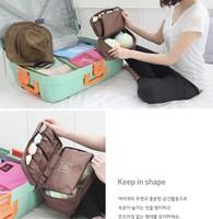 outdoor Travel Waterproof Pouch underwear bra storage Sorting bag Organizer zipper cosmetic bags wash bag for women