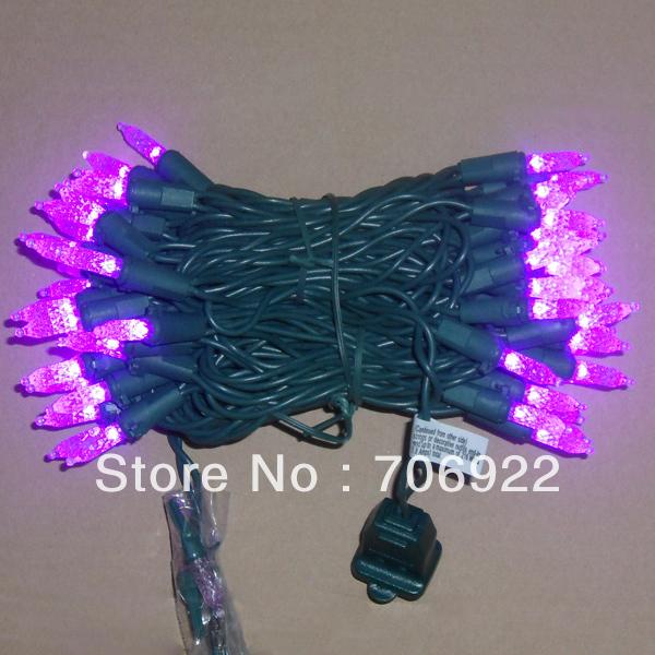 Holiday Sale Free Shipping 20 PCS UL 110V 7M 70L Purple Christmas Tree M5 LED Icicle Lights(China (Mainland))