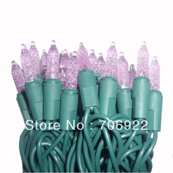 Holiday Sale Free Shipping 30 PCS UL 120V 7M 70L Purple Christmas Tree M5 LED Icicle Lights(China (Mainland))