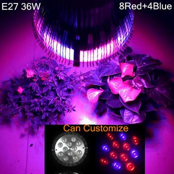 Full spectrum LED Grow lights 36W E27 LED Grow lamp bulb for Flower plant Hydroponics system AC 85V 110V 265V grow box 1Pcs/lots
