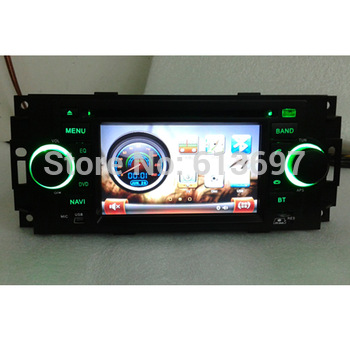 "5"" Car DVD Player For DODGE CALIBER 2007-2008 With GPS Navigation Radio Bluetooth TV iPod USB Audio Video Player With Free Map"