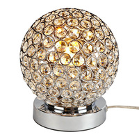 Dimmer Modern K9 Crystal Table Lamp Bedside Living Room Office Lampshade Decoration Luminaire E27 110-240V