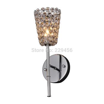 Modern Wall Lamp K9 Crystal Sconce G9 Art Headboard Corridor Restaurant Lampshade Fixtures Home Decor