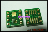 80PCS Gold plated SO8 MSOP8 SOIC8 TSSOP8 SOP8 turn DIP8 IC adapter Socket Adapter plate PCB (NO IN Pin Header)