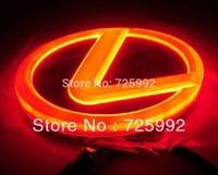 Free shipping led car logo for lexus 4d led auto light car led emblem lexus