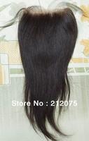 "Brazilian Virgin Straight Hair Lace Top Closure 4""x4""  lace closure   F"