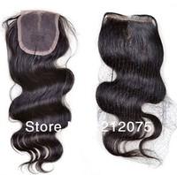 "Beautiful Virgin Brazilian  Hair Lace Top Closure 4""x4""  lace closure   Natural  wave hair"