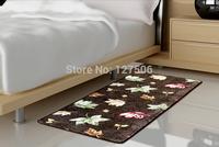 60CM*120CM Free shipping Coral fleece carpets rug for bedroom living room entrance slip-resistant super soft bath mats doormat
