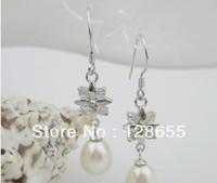Korean star earrings wholesale freshwater pearl earrings   Free  Shipping