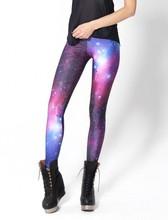 HOT! SEXY! supernova sale Women Purple Leggings Space Printed Pants Milk Leggings Fitness DROP SHIPPING(China (Mainland))