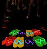 Hot-selling 2014 neon luminous lovers design flip flops for women  fashion concise beach slippers  free shipping candy colors