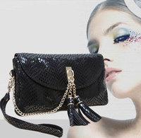 Promotion Designer Genuine Leather Women Clutch Purse Paillette Wristlet Evening Messenger Bag Handbag Free Shipping
