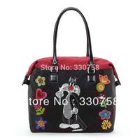 Fashion Cartoon Lovely Cat & Tweety Pattern Women Handbags Female Street Big Tote Bag Bolsas 2013