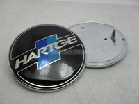 82mm Chrome For HARTGE Car Badge Auto Logo Front Hood Rear Trunk Emblem W/ 2 Pins Car Sticker Decal Drop Shipping