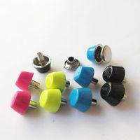 Free shipping!40pcs color mixture 8*4mm alloy barrel shape flat head rivets for shoes bags