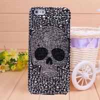 Free Shipping Fashion Crystal skull Case Cover for iPhone 5 iphone 4 case for iPhone 4s iPhone 5s  wholesale Rhinestone Case