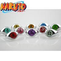 HOT Anime Naruto Set of 10pcs Akatsuki Cosplay Full Rings Set Sasori Itachi Hidan Deidara Costume Accessory