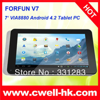 Good price Forfun V7 VIA 8880 Cortex A9 Dual Core 7 inch Capacitive Touch Screen Android 4.2 Tablet PC VIA WM8880