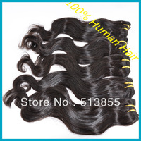 "Cheap Queen Hair Product Peruvian Body Wave Weave 50g/pcs Remy Human Hair Weft 12""-28"" 5/6pcs/lot Curly Hair Extension 1b 2# 4#"