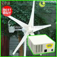 [Off Grid Home Wind Power Solution] 400W 12V Wind Turbine Generator NE-400M + 500W 12V Hybrid Inverter and Controller Device, CE