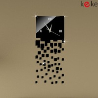 51pcs Home decoration wall clock modern design luxury mirror wall clock,3d crystal mirror wall watches michael wall clocks