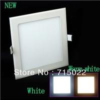 Square 18w Super Thin LED Panel Light White/Warm White LED Ceiling light 110v/220v