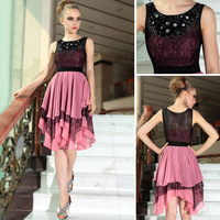DORISQUEEN Free shipping in stock short prom dresses beading cocktail party dresses 6053 2014