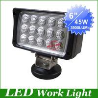 "New,6"" 15pcs*3W 45W Floodlight flood beam LED Work Light driving Lamp for SUV Truck Mining Off-road worklight led driving light"