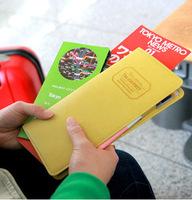 FreeShipping Korean Long Section New Multi-functional Passport Holder Travel Storage Bag Wallet Card Bag for Women BG1337