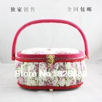 HIGHT QUALITY 1 SET FREE SHIPPING Hussies set gift box make-up box hussies set sewing kit storage box  wood  box