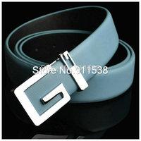 #Q235 Hot sale Genuine leather strap male belt all-match male strap cowhide fashion letter casual pants belt  1pcs
