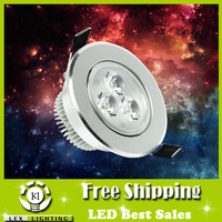 Led spotlights 3w small AC220V ceiling light full set integration wall lamp bright bull's-eye lights warm/cold white