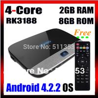 K-R42 CS918 MK888 Quad Core RK3188  Cortex-A9 2GB 8GB Android Set Top Box 1920x1080p Full HD Wifi Antenna XBMC EKB311