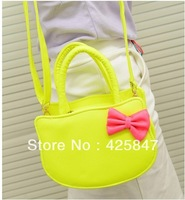2013 New Chic Women's Handbag Candy Color Retro Shoulder Bag Pu Leather Bag Messenger Bag Free Shipping