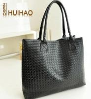 2014 New arrival lady handbag,All-match knitted bag women's handbag brief large capacity shoulder bag plaid bag