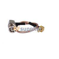 MCX Right Angle Plug to BNC Right Angle Plug on RG 179 Cable 70cm