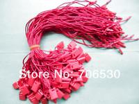 Wholesale Red Hangtag String Plastic Seal Tag Hang Tag String in Apparel Garment Hangtag Cord