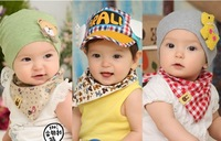 3pcs/set 2014 new free shipping100% cotton material baby bibs, child-specific products, children scarf, children towel